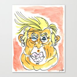 The Orange Menace Canvas Print