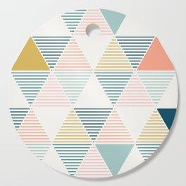 Modern Geometric Cutting Board