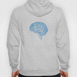 blue human brain Hoody