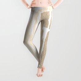White Gold Sands Bamboo Stripes Leggings