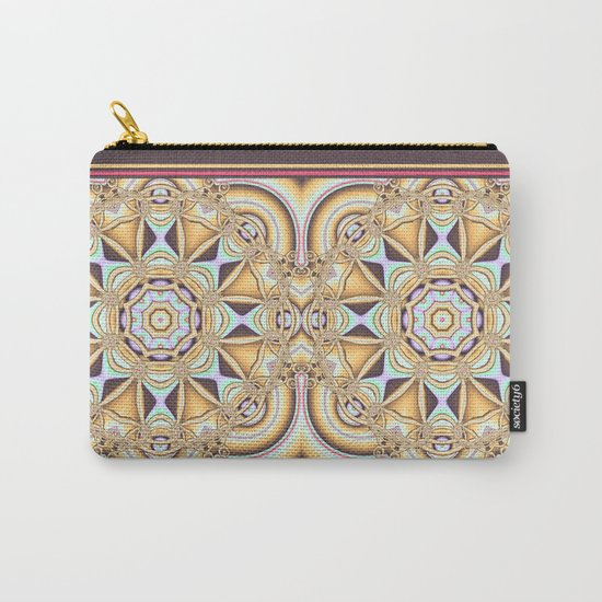 Elegant golden geometric kaleidoscope Carry-All Pouch