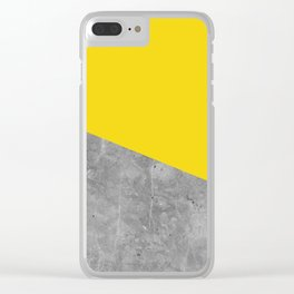 Geometry 101 Vivid Yellow Clear iPhone Case