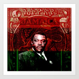 Marcus Garvey Black Nationalist Design Merchandise Art Print