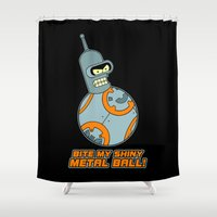 bender Shower Curtains featuring Bender Bending 8 by slurmo
