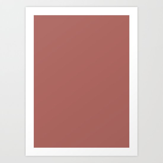 Marsala Color Matte 2015 Art Print