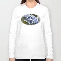 hydrangea Long Sleeve T-shirts featuring Hydrangea  by Wealie