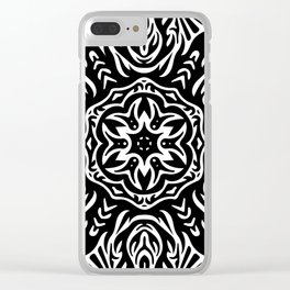 The Cosmic Monochrome Sun Clear iPhone Case