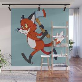 Chompy Fox Wall Mural