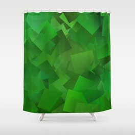 Cubed grass ... Shower Curtain