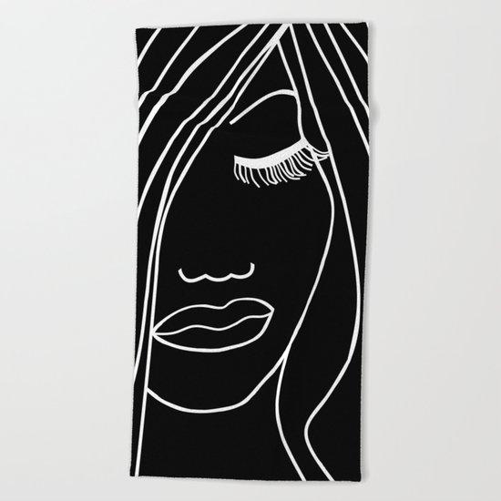Onyx Portrait Beach Towel