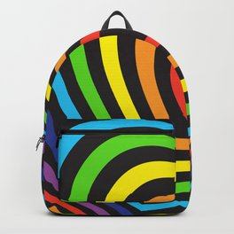 rainbow heart volumetric image Backpack