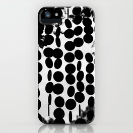 Black and White Circles iPhone Case