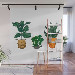 Potted Plant Critters 3 Wall Mural