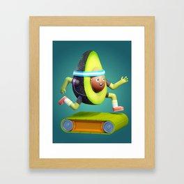Running Avocado Framed Art Print