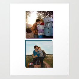 DRUCK - travel boyfriends Art Print