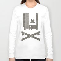 castlevania Long Sleeve T-shirts featuring Nes Skull by Hector Mansilla