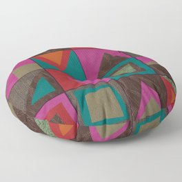 squares of colors and shreds Floor Pillow