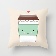 Bring coffee Throw Pillow