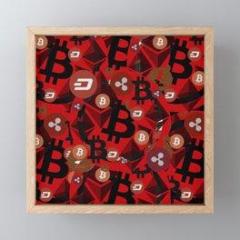 Сrypto currencies money pattern Framed Mini Art Print