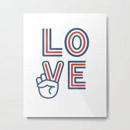 Love and Peace Metal Print