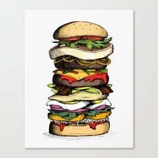 Now THIS is a burger. Canvas Print