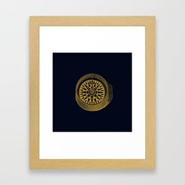 The golden compass I- maritime print with gold ornament Framed Art Print