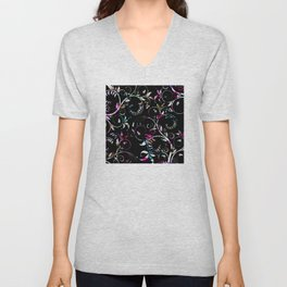 Retro Elegance: Classic Graphic Design Unisex V-Neck