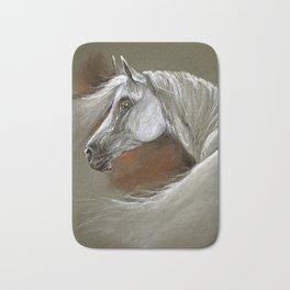 Arabian horse soft pastel Bath Mat