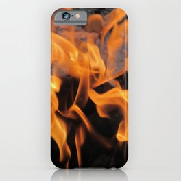 Sitting By the Crackling Fire iPhone Case