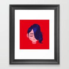 see through girl 3 Framed Art Print