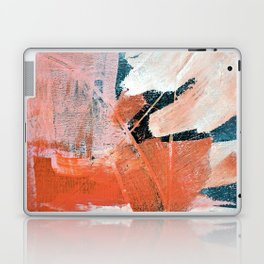 Interrupt [3]: a pretty minimal abstract acrylic piece in pink white and blue by Alyssa Hamilton Art Laptop & iPad Skin