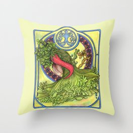 Art nouveau. Spices and vegetables Throw Pillow