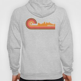 Retro Style Minneapolis Minnesota Skyline Hoody