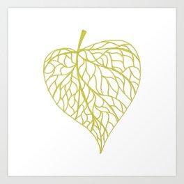 The Linden leaf Art Print