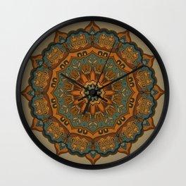 Moroccan sun Wall Clock