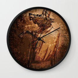 GOAT THRONE Wall Clock