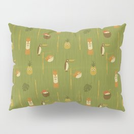 Kitschy Tiki Pattern Pillow Sham