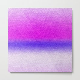 Abstract lilac blue pink geometrical ombre Metal Print
