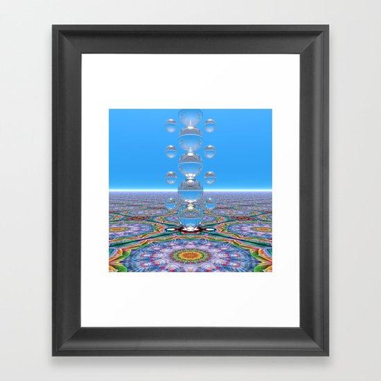 Crystal Totem Framed Art Print