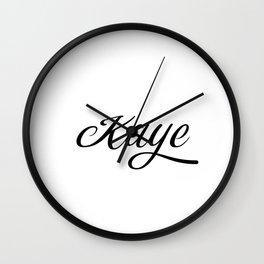Name Kaye Wall Clock
