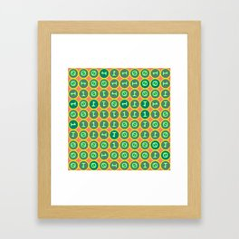 Bits pattern Framed Art Print