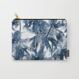 Blue palm trees Carry-All Pouch