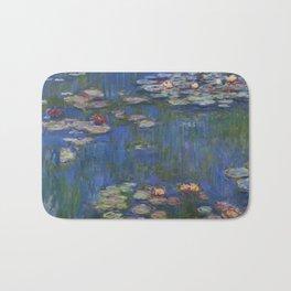 WATER LILIES - CLAUDE MONET Bath Mat