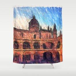 Jerónimos Monastery Shower Curtain