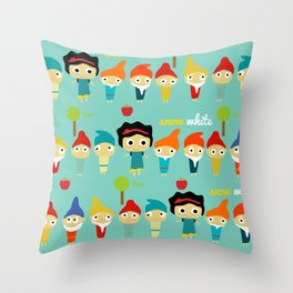 Snow White and the 7 dwarfs Throw Pillow