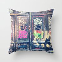 doors Throw Pillows featuring doors by dillon hesse