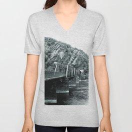 Harpers Ferry Railroad Bridge Unisex V-Neck