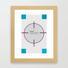 Tribute to Foursquare Framed Art Print