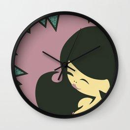 China-Girl in Purple Wall Clock