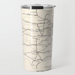 1947 Interstate Highway Map: Digital Recreation Travel Mug